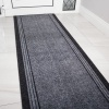 Grey Hard Wearing Runner Rugs - Concorde