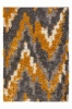 Grey Ochre Nordic Distressed Shaggy Rug - Florence