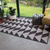 Grey Geometric Outdoor Indoor Rug - Habitat