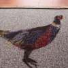 Grey Pheasant Printed Washable Doormat