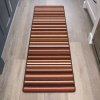 Terracotta Stripe Washable Rug