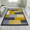 Yellow Grey Modern Contemporary Living Room Rug - Milan