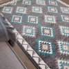 Grey Kilim Kids Bedroom Rug - Milan Junior