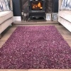 Purple Shaggy Rug - Murano