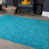 Teal Blue Shaggy Rug - Vancouver