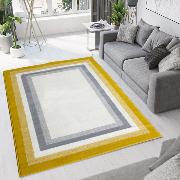 Yellow Ochre Rugs Oon, Gray And Yellow Rugs For Living Room