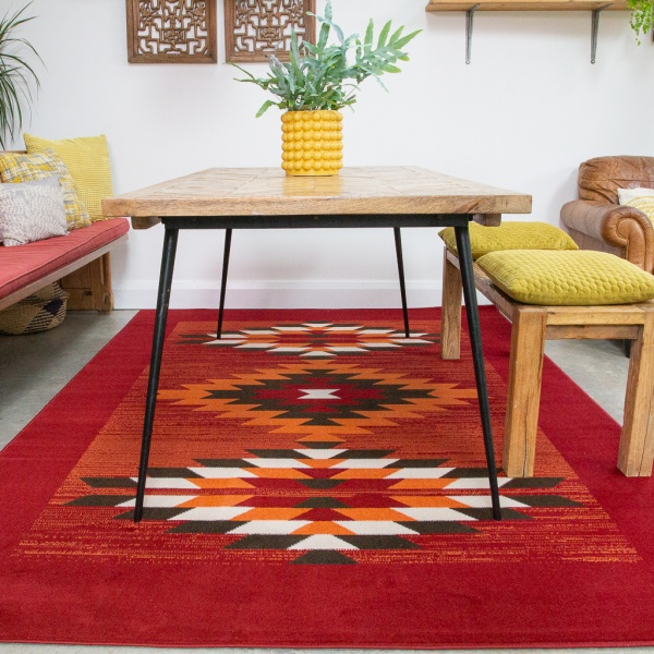 Aztec Red Rug - Milan