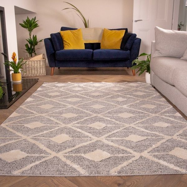 Scandi Grey Cream Rug - Ashbee
