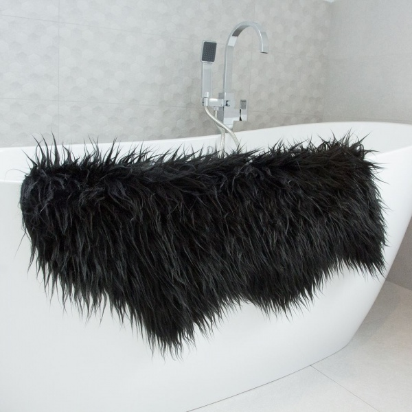 Black Faux Fur Sheepskin