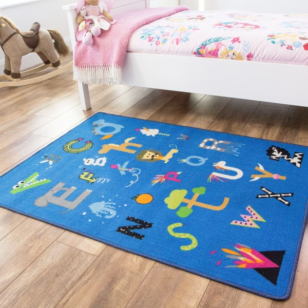Colourful Kids Rug - Carousel
