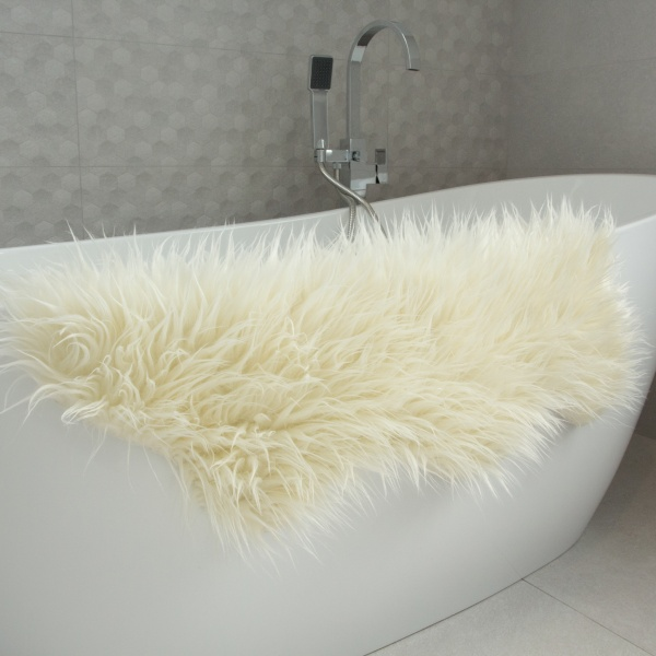 Cream Faux Fur Sheepskin