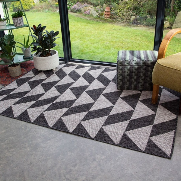 Grey Outdoor Rug - Habitat