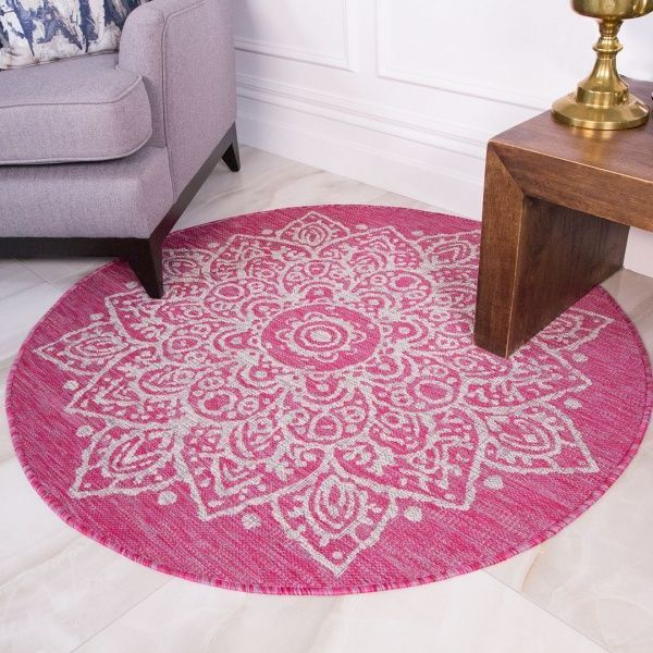 Pink Circle Outdoor Rug - Habitat
