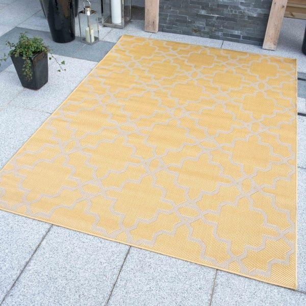 Yellow Flatweave Outdoor Rug - Habitat
