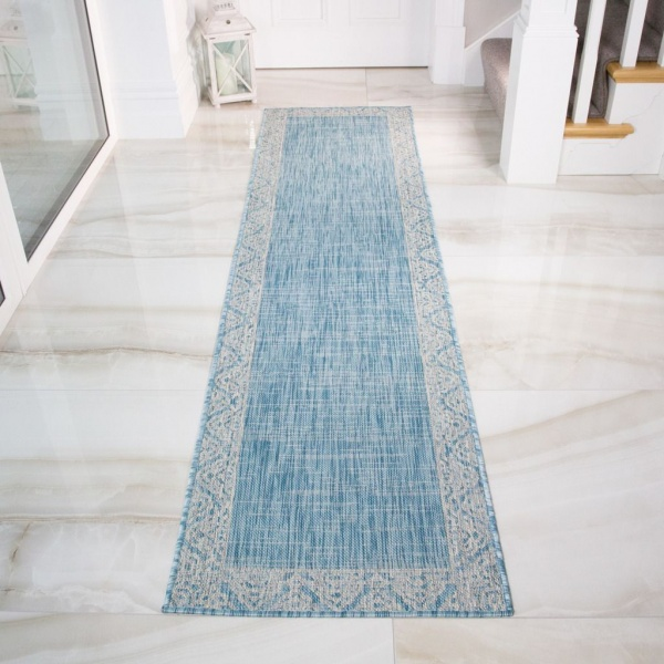 Aqua Boarder Outdoor Runner Rug - Habitat