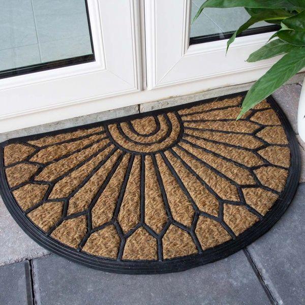 Half Moon Coir Outdoor Entrance Doormat, Half Moon Outdoor Mats