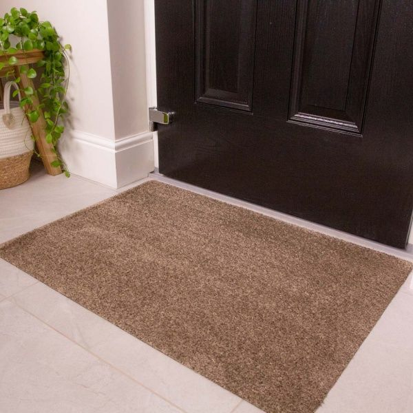Beige Durable Eco-Friendly Washable Doormats - Hunter