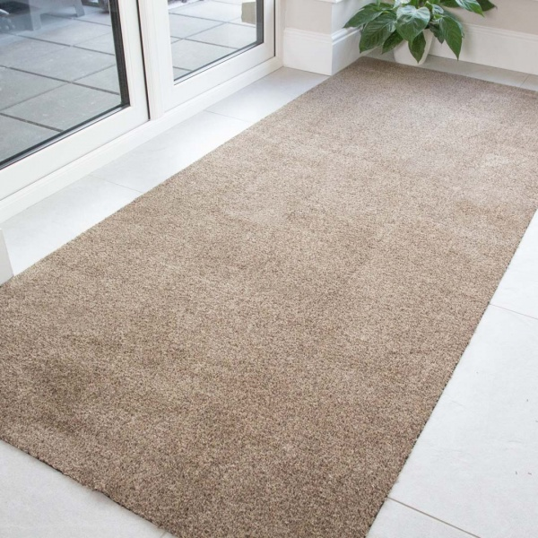 Beige Durable Eco-Friendly Washable Mats - Hunter - Cut to Measure