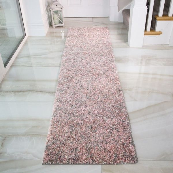 Blush Shaggy Runner Rug - Murano