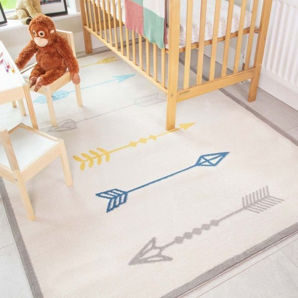 Fun Native Arrows Soft Kids Bedroom Rugs  - Nino