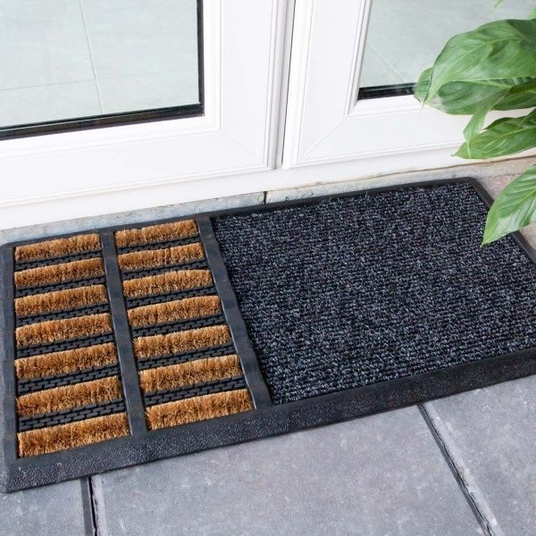 Sanitiser Brush Coir Outdoor Entrance Doormat - Coir