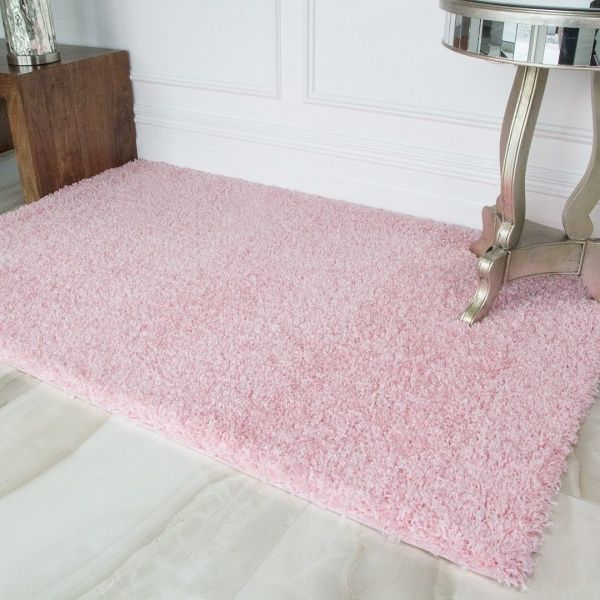 Baby Pink Shaggy Rug - Vancouver
