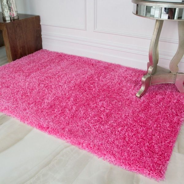 Barbie Pink Shaggy Rug - Vancouver