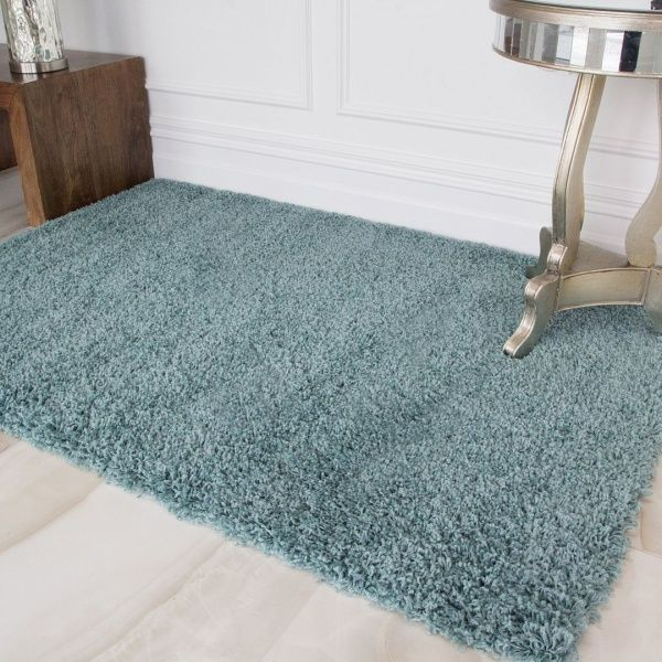 Duck Egg Shaggy Rug - Vancouver