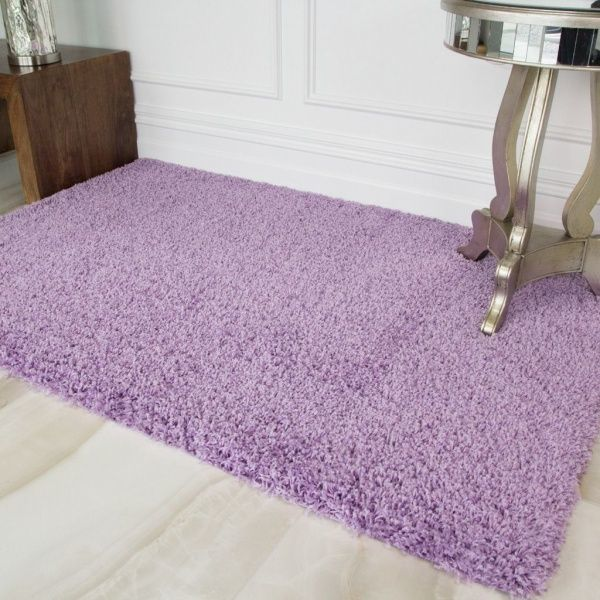 Violet Shaggy Rug - Vancouver