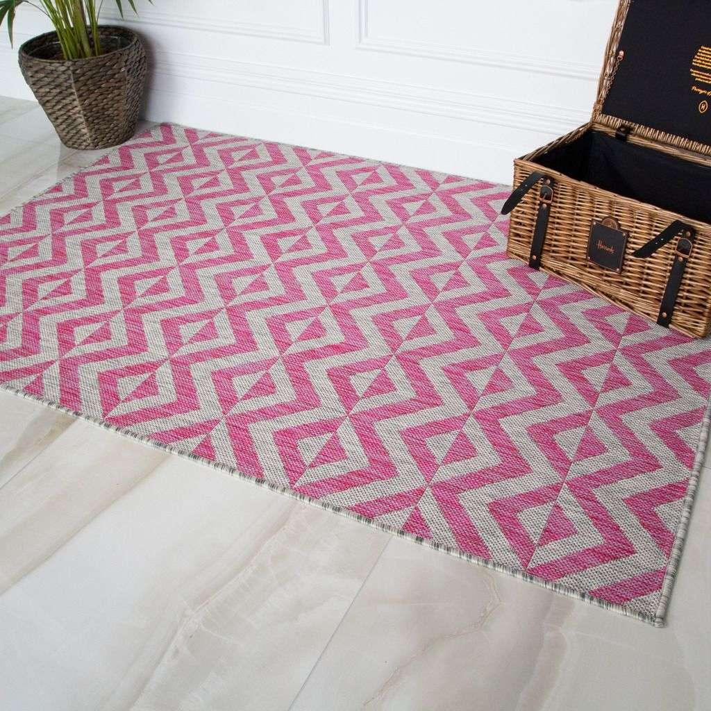 Pink Geometric Outdoor Rug Habitat, Pink Outdoor Rug Uk