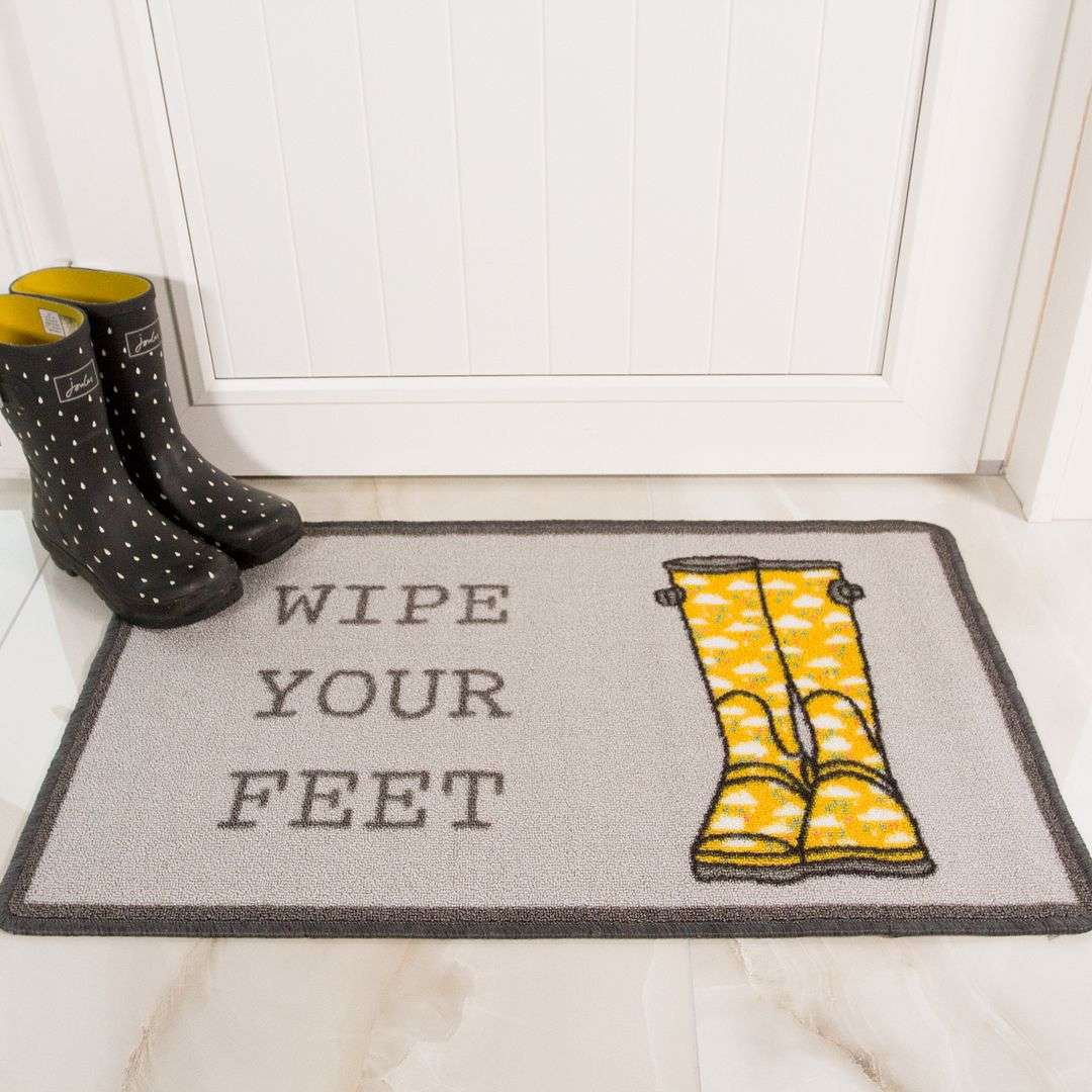 Wipe Your Feet Washable Doormat