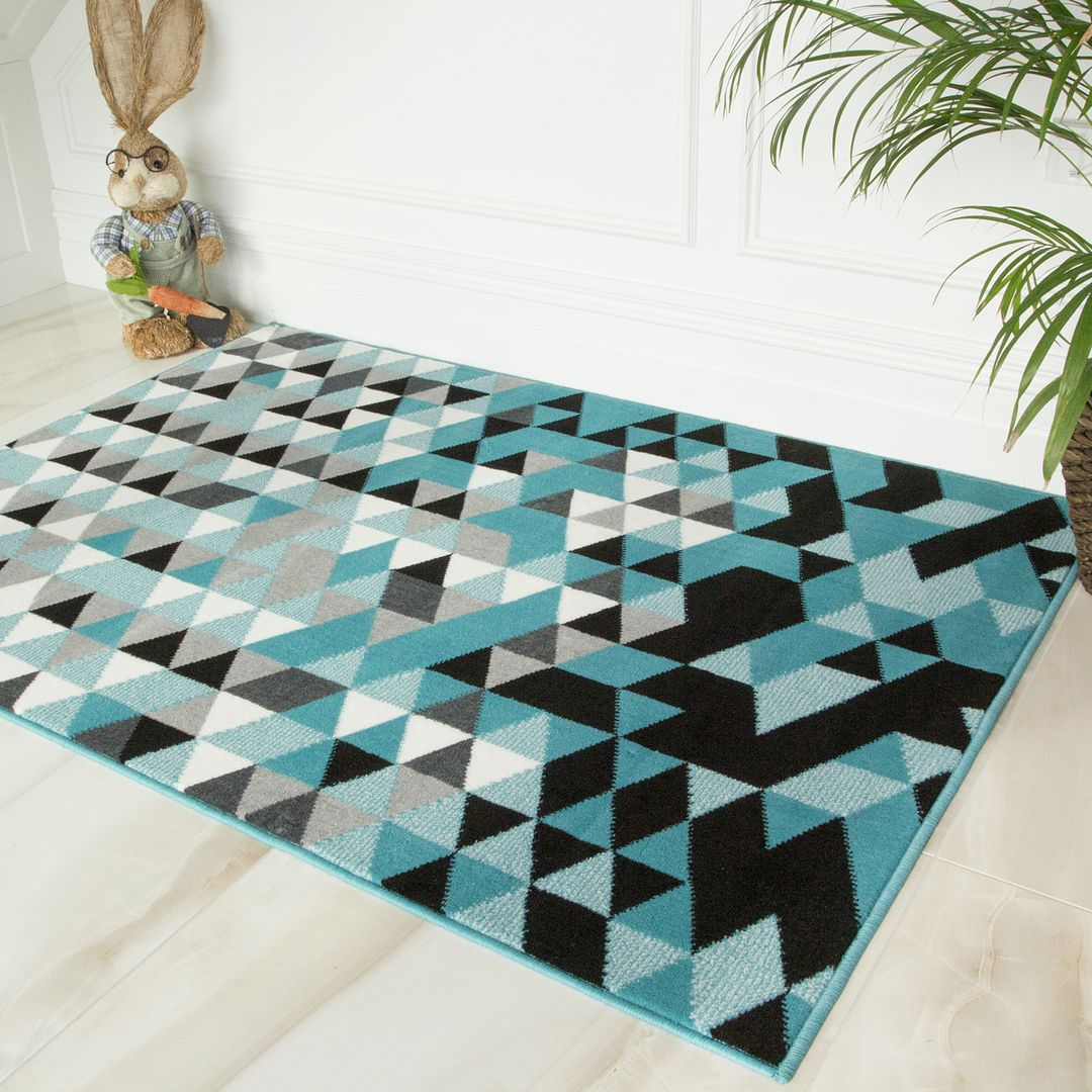 Blue Mix Prism Rug - Milan