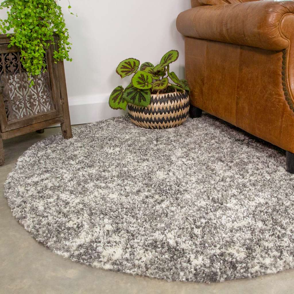 Silver Shaggy Rug for Living Room   Murano