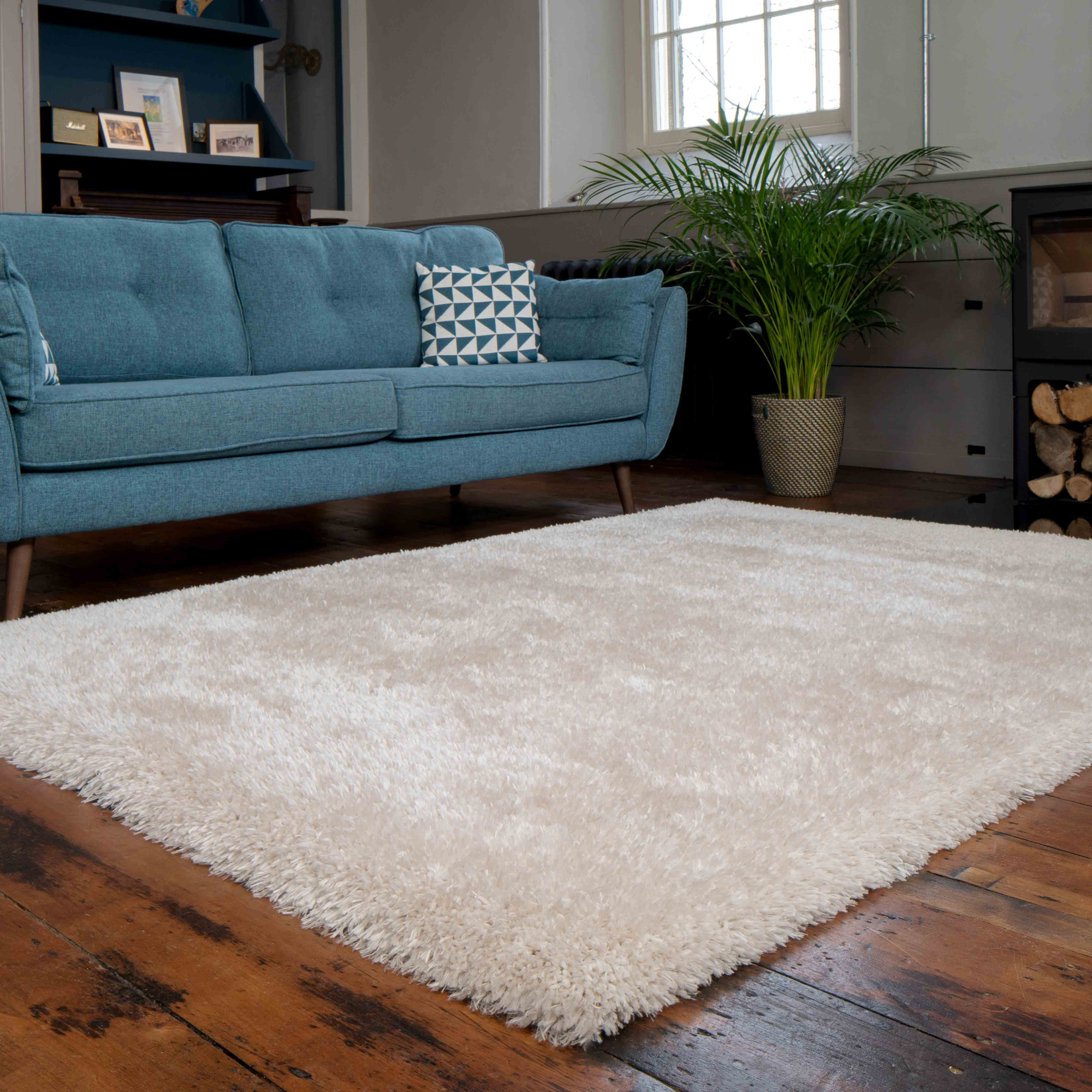 Deluxe Thick Soft Beige Gy Living, Living Room Rugs