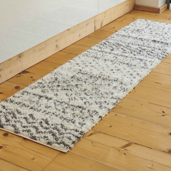 Cream Scandi Nordic Shaggy Runner Rug - Florence